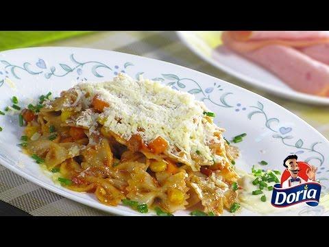 Corbatas Doria con Maíz en Salsa de Tomate