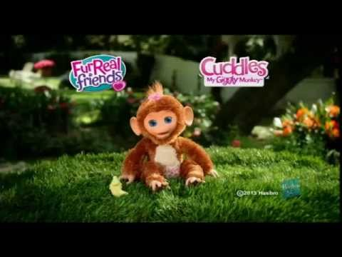 Hasbro - FurReal Friends - Cuddles My Giggly Monkey - YouTube