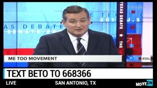 LIVE: @BetoORourke  v. Cruz in a local debate on domestic and international policy. #BetoForTexas