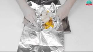 Треска в фольге с овощами