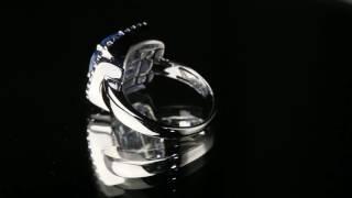 Кольцо из белого золота с топазом 2 карата, сапфирами 0,4 карат и бриллиантами 0,13 карат(, 2016-11-08T12:31:11.000Z)