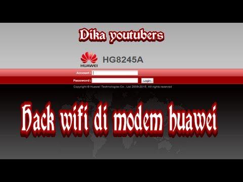 Tutorial Cara Hack Wifi Di Modem Huawei
