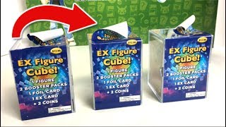 WHAT HAPPENED TO THESE CUBES?! - OPENING 3 MYSTERY EX FIGURE CUBES from TARGET with POKEMON CARDS!