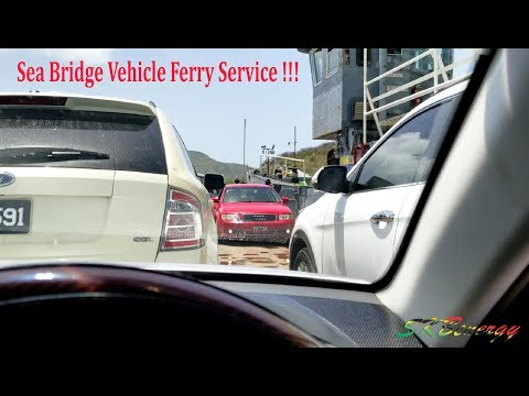 Sea Bridge Vehicle Ferry Service !!! Cades Bay in Nevis to Major's Bay St. Kitts
