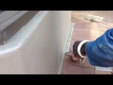 Damp proof paint wall finish with plaster fillet youtube - Damp proofing paint for exterior walls ...