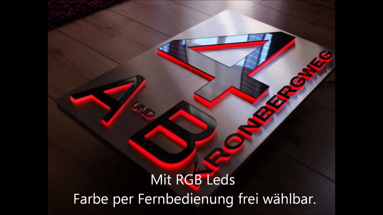 Led Hausnummer in 3D Design Hausnummer-Berlin.de by Zabel LED Design ...