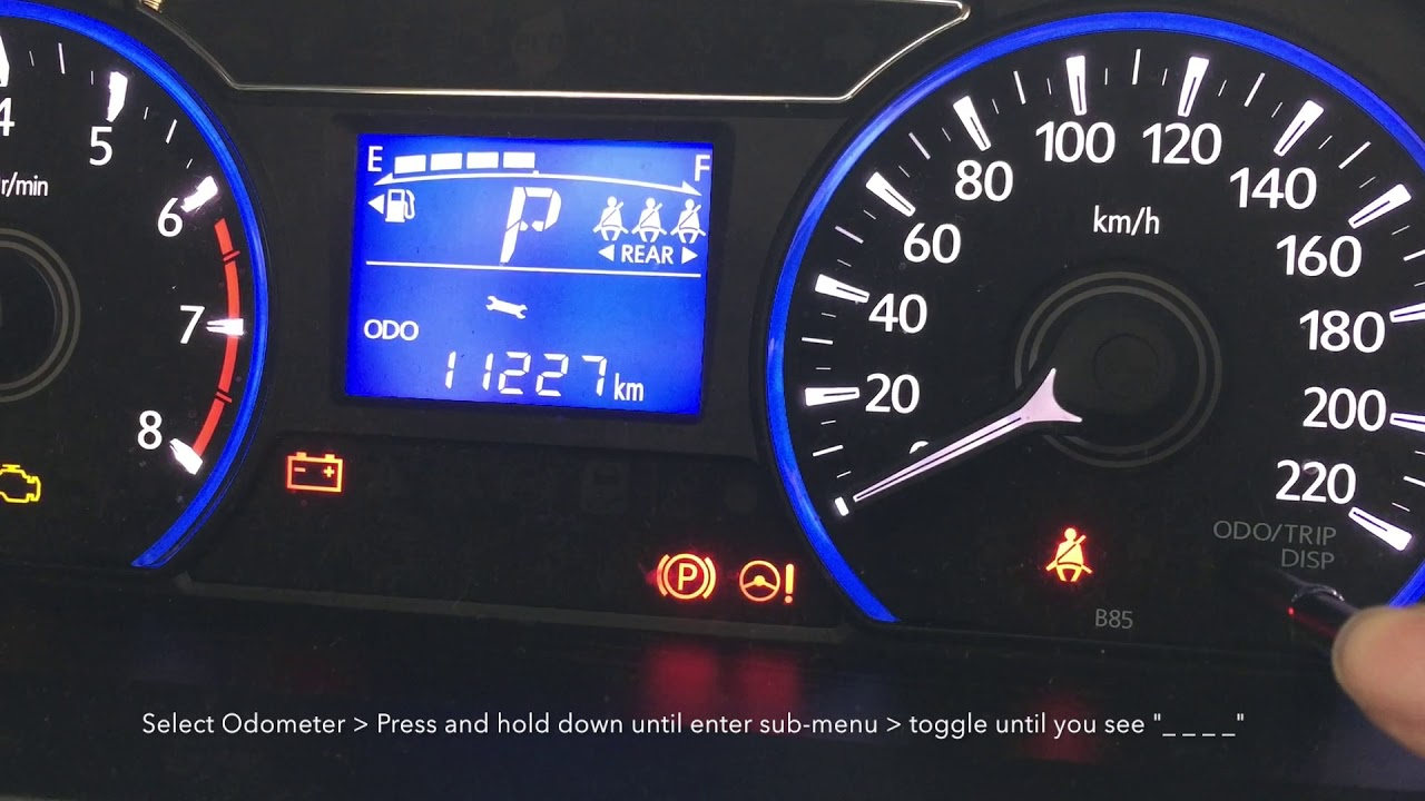 How To Reset Service Mileage Reminder For New Myvi 2018 Advance 1 5 Youtube