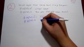 Fonksiyonlar Çıkmış Soru Çözümü 1 (DGS-ALES-TYT-KPSS)