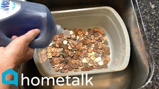 Penny Decor | Pour Salt Over Pennies For This Gorgeous Decor Idea! | Hometalk