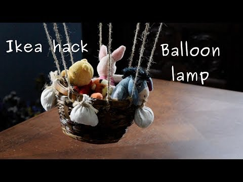 Cool balloon lamp for kids bedroom (from cheap lanter/lampshade)