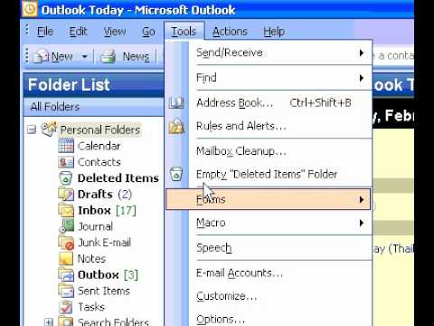 Microsoft Office Outlook 2003 Automatically delete or move junk email  messages