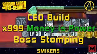 Borderlands Pre-Sequel | 999 Stacks of Money Is Power Boss Stomp Montage