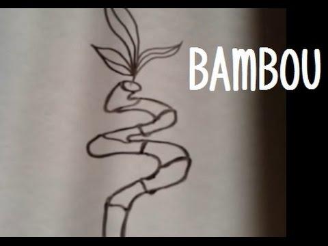 Dessiner du bambou version 2 youtube - Comment se debarrasser des bambous ...