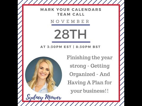 Team Fit & Free UK Call - with guest speaker Sydney Mower