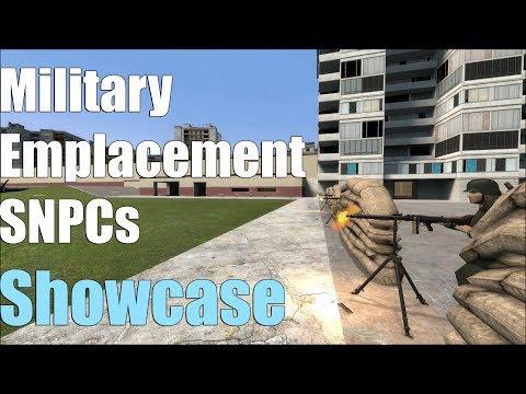 Military Emplacement SNPCs Showcase (Garry's Mod)