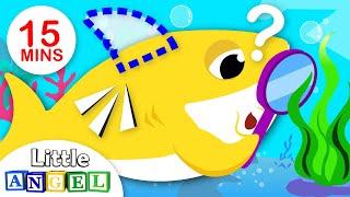 Bebê Tubarão em Cadê Minha Barbatana? + e muito mais! | Vídeos Infantis | Little Angel