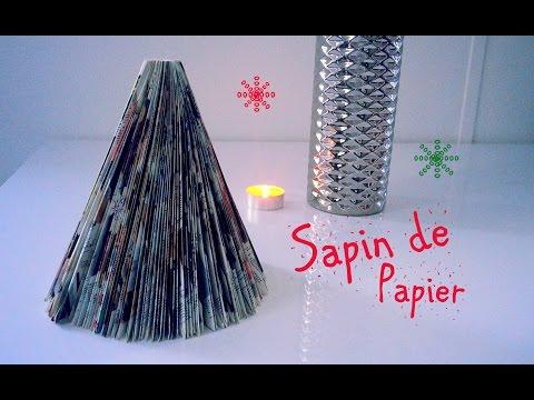 Noel n 6 d co mon beau sapin fait du recyclage - Comment faire un sapin de noel en papier ...