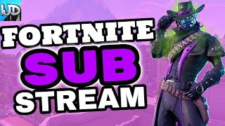 FORTNITE PS4 LIVE ROAD TO 2K SUBS NEW DEADFIRE SKIN - FORTNITE WEDNESDAY