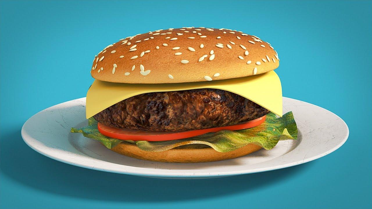 C4D Softbody Dynamics Burger - Cinema 4D Tutorial (Free Project)