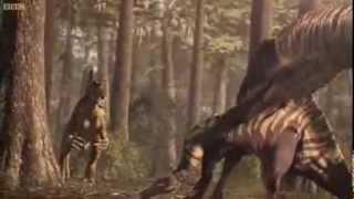 Spinosaurus vs Carcharodontosaurus por comida