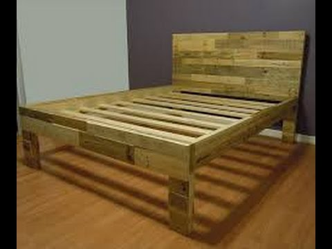How to make a pallet bed | How to make a bed from pallets ...