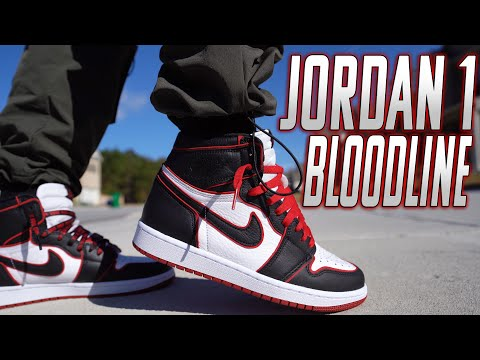 "WATCH BEFORE YOU BUY ! AIR JORDAN 1 ""BLOODLINE"" REVIEW AND ON FOOT 4K"