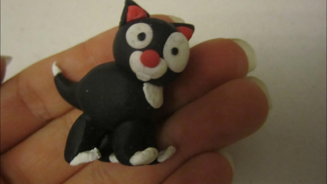 Exceptionnel Tuto fimo : chat - YouTube BB92