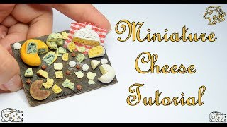 Miniature Cheese Tutorial-Polymer Clay