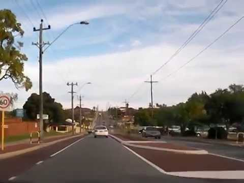 Driving - streets of Perth, Australia
