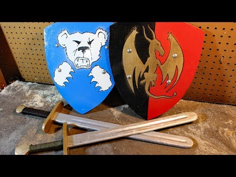 Making wooden swords and shields