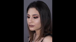 "Makeup transformation using Huda Beauty ""Desert Dusk"" (tutorial)"