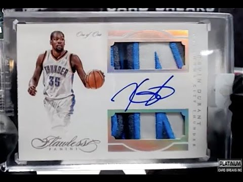 0362b50f6 2015-16 Panini Flawless Basketball 10 Spotter  1 - Kevin Durant 1 1 Dual  Patch Auto