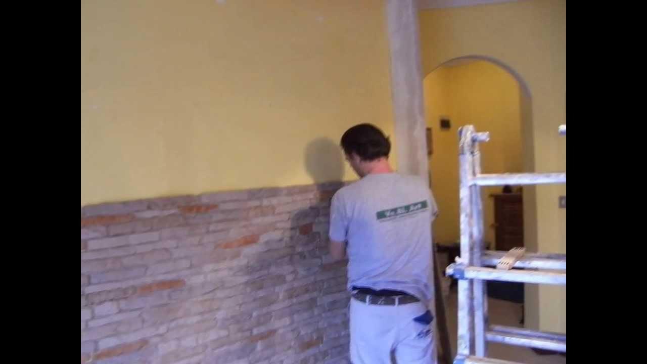 imbianchino ve bi art parete con pietra e cartongesso