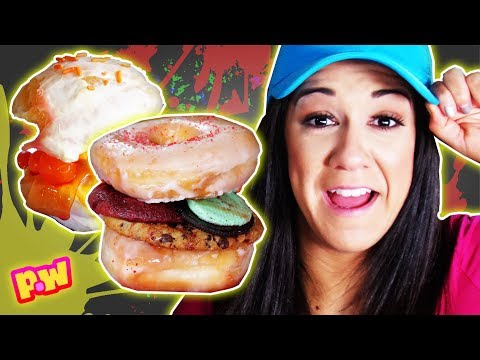 🍔 Weird Burger Food Challenge w/ WWE Superstars + EvanTube + JillianTube! ~ pocket.watch