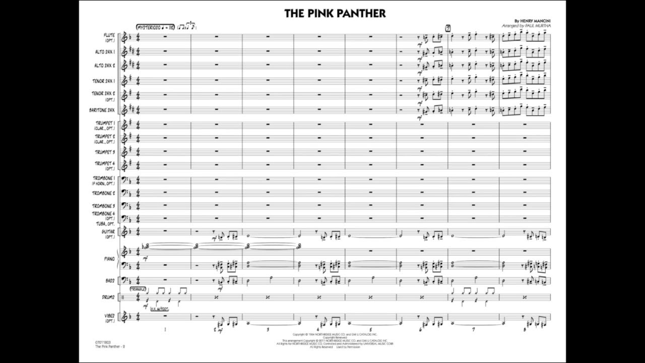 The Pink Panther by Henry Mancini/arr  Paul Murtha
