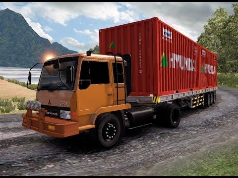 ETS 2 | Mitsubishi Fuso 4 x 2 220 PS Logistik Trailer Hyundai 30 Ton Lintas Sitinjau Lauik - Padang