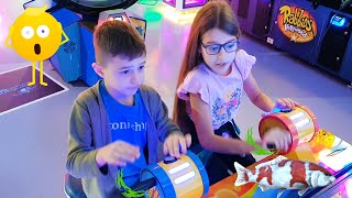 Kids Playing Games at Indoor Playground. Funny video 2020