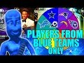 SPIN THE WHEEL OF PLAYERS FROM BLUE TEAMS ONLY! Madden 19 Ultimate Team Squad Builder