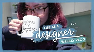 Getting s**t done | Life as a Designer vlog