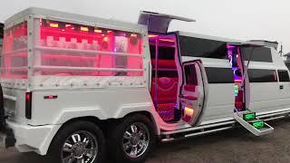 видео Прокат Лимузин Hummer H2 Белый (№786) недорого
