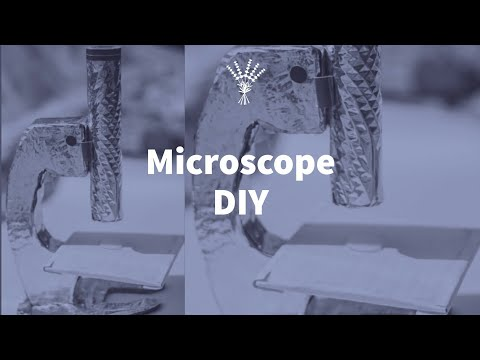 How to make microscope model at home || diy microscope || school project