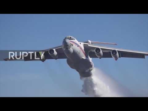 Chile: Russian Emergency Ministry plane drops almost 900 mln litres of water on wildfires