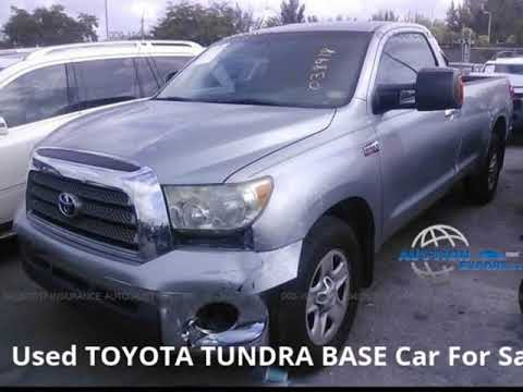 Used 2008 TOYOTA TUNDRA BASE For Sale in USA, Shipping to UAE