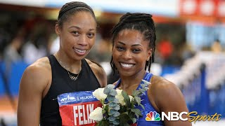 Javianne Oliver takes 60m by just .03 at 2020 Millrose Games; Allyson Felix 6th | NBC Sports