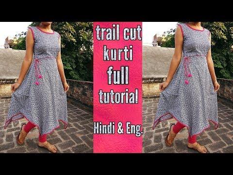 Trail cut kurti ( cutting & stitching )