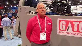 Video still for Gator Machinery Company exhibits their Course Material Washer PCST3618