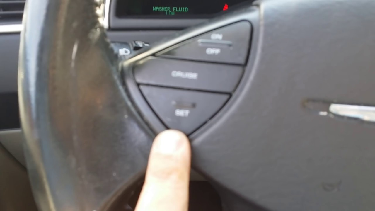 2005 Chrysler Pacifica Cruise Control Not Working