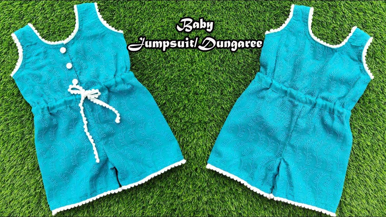 Baby Jumpsuit/Dungaree Dress | Cutting And Stitching | English Subtitles | Stitch By Stitch