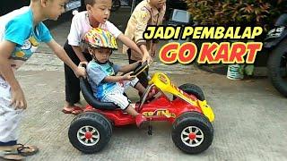 Rex Jadi Pembalap Go Kart   Seru Balita Main Mobil Mobilan Balap