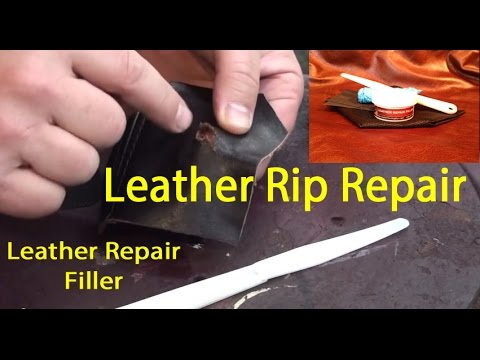 Leather Repair Filler Leather Tear Repair How To Fix A